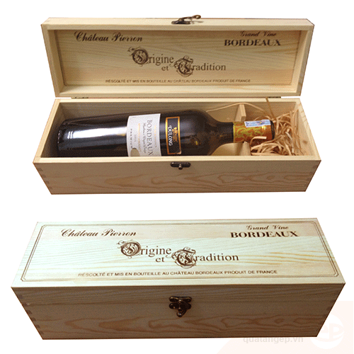 Hộp rượu gỗ 03