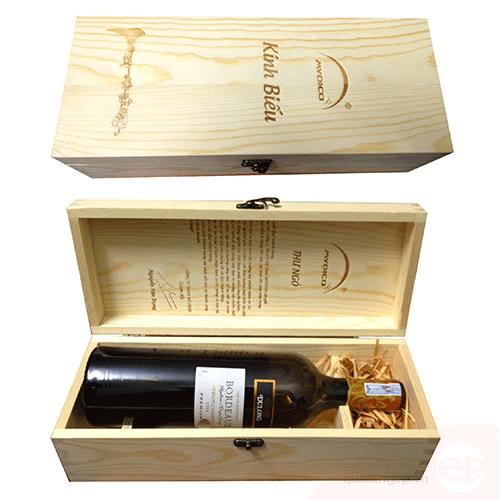 Hộp rượu gỗ 04