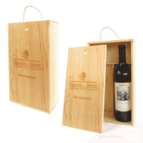 Hộp rượu gỗ 09