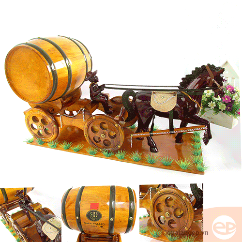 Xe kéo ngựa gỗ 03
