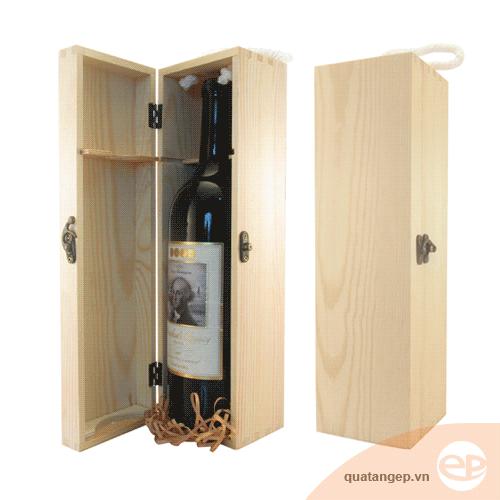 Hộp rượu gỗ đơn 01