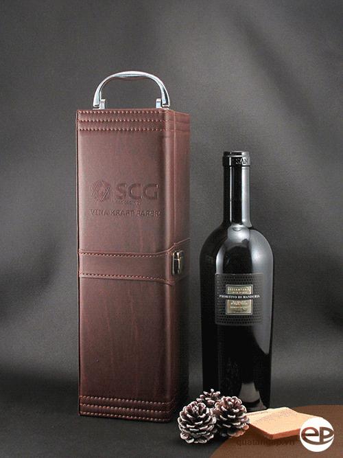 Hộp rượu da SCG