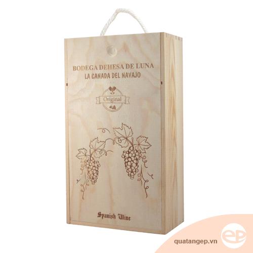 Hộp rượu gỗ Bodega